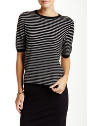 Philosophy - Striped Zip Back Elbow Length Sleeve Jumper - Lyst