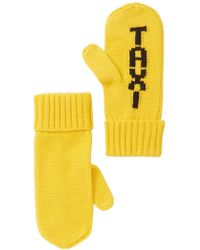 Kate Spade - Taxi Knit Mittens - Lyst