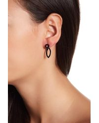 Ariella Collection - Geometric Front/back Earrings - Lyst