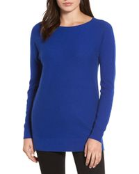 Halogen - High/low Wool & Cashmere Tunic Jumper - Lyst