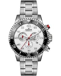 EDOX Watches - Men's Chronorally-s Swiss Quartz Chronograph Bracelet Watch, 44mm - Lyst