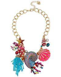 Betsey Johnson - Seashell Bib Necklace - Lyst