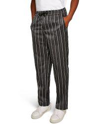TOPMAN - Stripe Wide Leg Joggers - Lyst