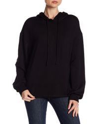 Heather by Bordeaux - Raw Edge Hoodie - Lyst