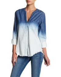 Soft Joie - Normana Frayed Ombre Shirt - Lyst