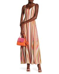 RACHEL Rachel Roy - Strappy Striped Maxi Dress - Lyst