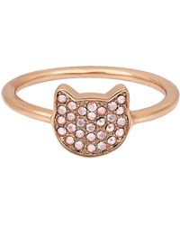 Karl Lagerfeld - Silhouette Choupette Ring - Size 8 - Lyst