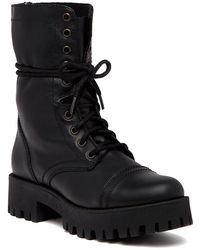 Steve Madden - Olly Lace-up Leather Boot - Lyst