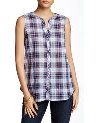 Sandra Ingrish - Sleeveless Plaid Shirt (petite) - Lyst