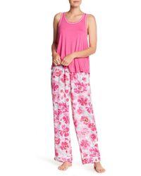 Kensie - Patterned Pants - Lyst