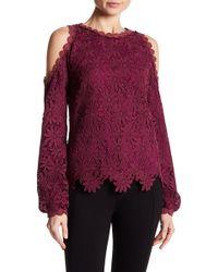 Zac Zac Posen | Cold Shoulder Floral Crochet Blouse | Lyst