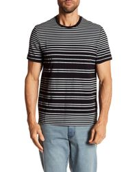Kenneth Cole - Striped Crew Neck Tee - Lyst