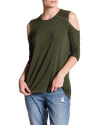 Seven7 - Embellished Cold Shoulder Shirt - Lyst