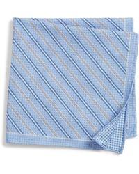 Canali - Stripe Pocket Square - Lyst