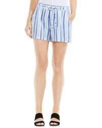 Two By Vince Camuto | Stripe Linen Blend Shorts | Lyst