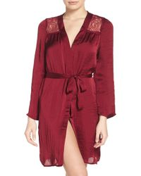 Band Of Gypsies - Lace Inset Robe - Lyst