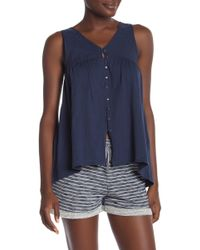 Roxy - Delila Embroidered Tank - Lyst