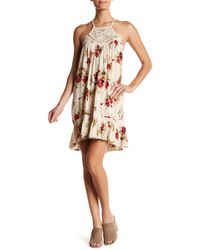 Volcom - Shello Crochet & Ruffle Hem Dress - Lyst