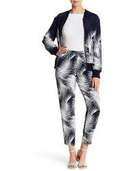 St. John - Palm-print Drawstring Trousers - Lyst