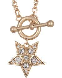 Jenny Packham - Prong Set Glass Crystal Star Pendant Necklace - Lyst