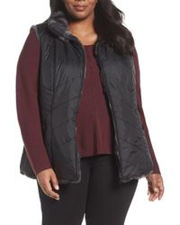 Gallery - Reversible Faux Fur Vest (plus Size) - Lyst