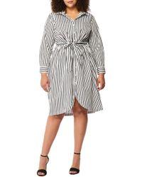 REBEL WILSON X ANGELS - Tie Front Shirtdress (plus Size) - Lyst