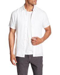Perry Ellis - Solid Linen Regular Fit Shirt - Lyst