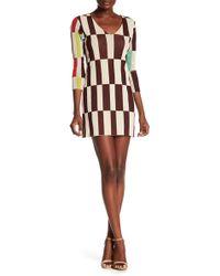 Petit Pois - 3/4 Sleeve V-neck Dress - Lyst