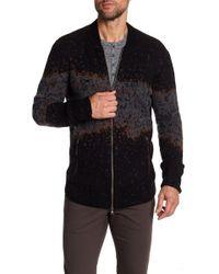 John Varvatos - Zip Front Sweater - Lyst