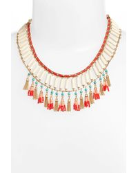 Rebecca Minkoff - Luna Beaded Collar Necklace - Lyst