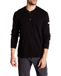 James Perse - Sweatshirt Long Sleeve Henley Shirt - Lyst
