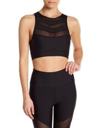 C&C California - Fast Chevron Mesh Sports Bra - Lyst
