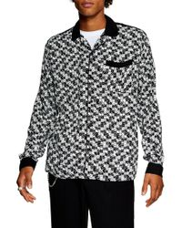 TOPMAN - Bodders Domino Print Shirt - Lyst