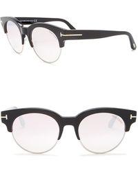 b4e28c8eafd Tom Ford - Henri 52mm Semi-rimless Sunglasses - Lyst