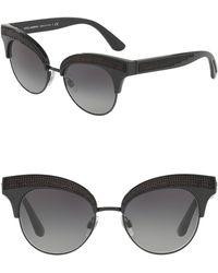 Dolce & Gabbana - 50mm Embellished Cat Eye Sunglasses - Lyst