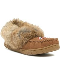 Pajar - Manue Genuine Rabbit Fur Trimmed Moc Slipper - Lyst