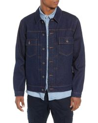TOPMAN Raw Denim Jacket - Blue
