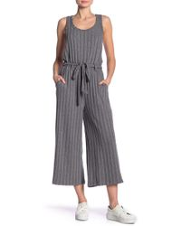 Bobeau - Devin Ribbed Knit Jumpsuit - Lyst