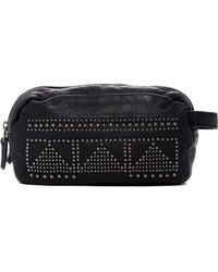Liebeskind Berlin | Metallic Studded Leather 2-zip Cosmetic Pouch | Lyst
