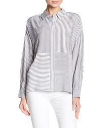 Two By Vince Camuto - Mixed Stripe Shirt - Lyst