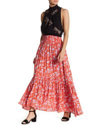 Free People - Way Of The Wind Printed Midi Skirt - Lyst