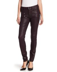 PAIGE - Edgemont Zip Coated High Waist Ultra Skinny Jeans - Lyst