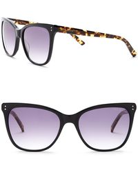 Ted Baker - Full Rim Square Cat Eye Sunglasses - Lyst