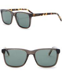 005e3b814ea Ted Baker Ted Baker Carter Aviator Sunglasses in Black for Men - Lyst