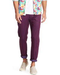 "T.R. Premium Patterned Comfort Fit Casual Pants - 32-34"" Inseam - Purple"