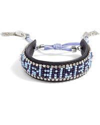 Rebecca Minkoff - Dreamer Seed Bead Leather Bracelet - Lyst