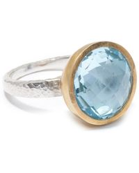 Gurhan - Two-tone Blue Topaz Galapagos Ring - Size 7 - Lyst