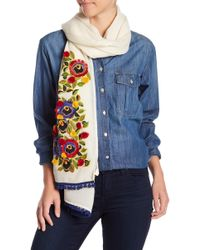 Tory Burch - Avalon Embellished Oblong Scarf - Lyst