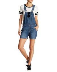 Big Star - Heather Short Overalls - Lyst
