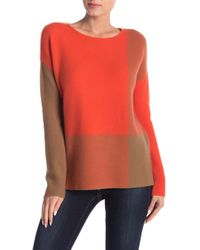 In Cashmere - Ottoman Cashmere Colorblocked Pullover - Lyst